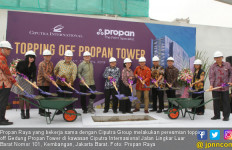 Propan Raya Resmikan Topping Off Propan Tower - JPNN.com