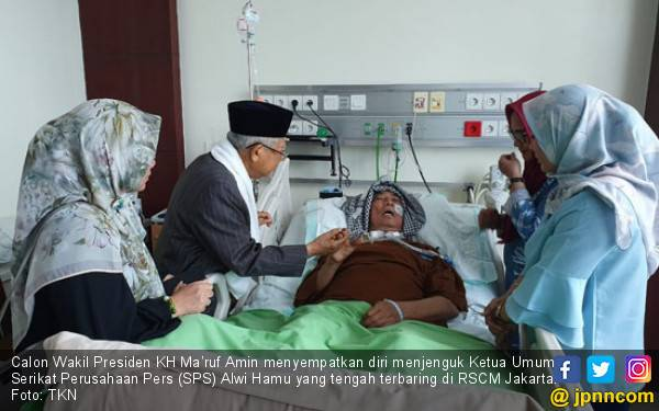 Kiai Ma'ruf Amin Doakan Ketum SPS Alwi Hamu Segera Sembuh - JPNN.com