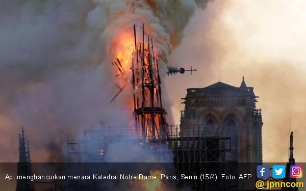 Kabar Terbaru Kebakaran Hebat di Katedral Notre Dame - JPNN.com