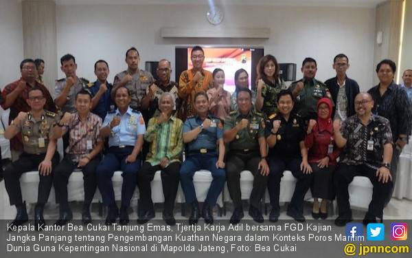 Bea Cukai Tanjung Emas Dukung Indonesia sebagai Poros Maritim Dunia - JPNN.com