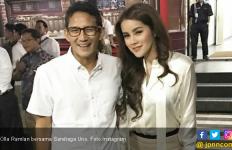 Pilih Jokowi - Ma'ruf, Olla Ramlan Posting Kedekatan dengan Sandiaga Uno - JPNN.com