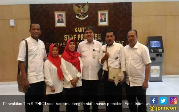 Satu Hari Jelang Pencoblosan, Pimpinan Honorer K2 Bertemu Orang Istana - JPNN.com