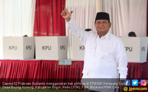 Prabowo Sebut Hasil Exit Poll di 5 Ribu TPS Dirinya Menang - JPNN.com