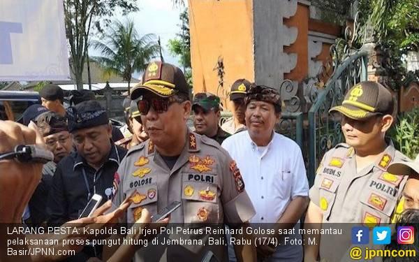 Catat! Kapolda Bali Larang Perayaan Pesta Kemenangan - JPNN.com