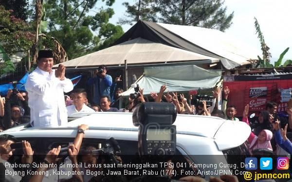 Emak-Emak Hambalang Semangati Prabowo usai Mencoblos - JPNN.com