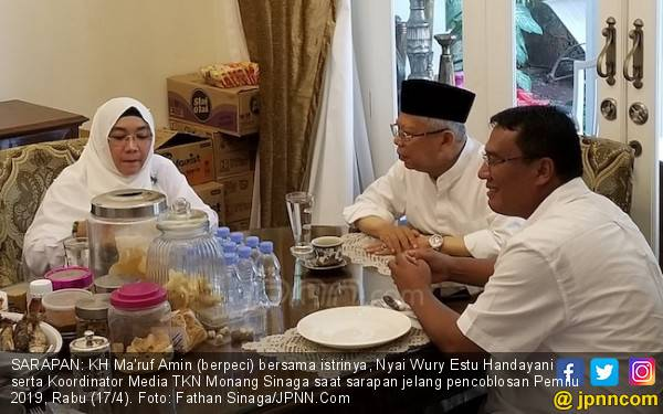 Melihat Aktivitas Kiai Ma'ruf sebelum Coblosan Pemilu 2019 - JPNN.com