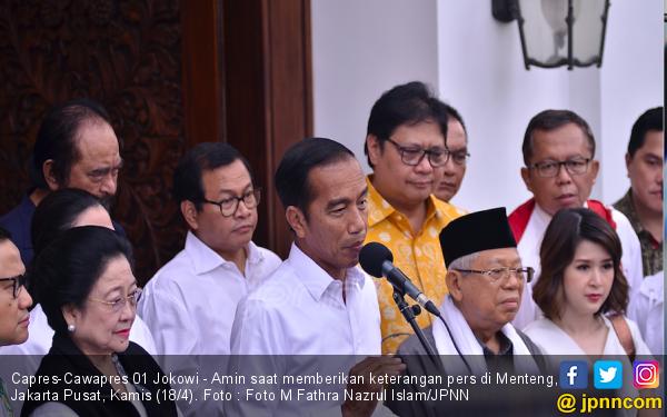 TKN Deklarasi Kemenangan, Jokowi: Semuanya Sabar, Sabar Dulu - JPNN.com