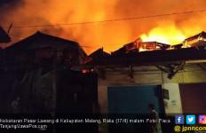 Pasar Lawang Terbakar, 509 Stan Hangus - JPNN.com