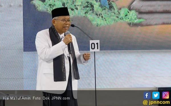 Respons Kiai Ma'ruf Amin Soal Syukuran Kubu Prabowo di Monas - JPNN.com