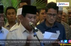 Hmm..Tak Ada Nama Sandiaga Uno di Panggung Pidato Prabowo Subianto - JPNN.com