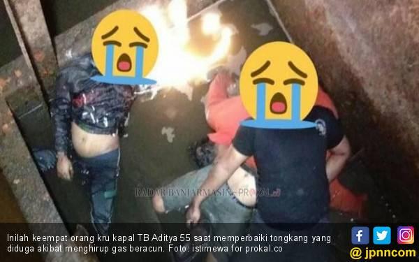 4 Kru TB Aditya 55 Ditemukan Tewas Mengenaskan di Lambung Kapal Tongkang - JPNN.com