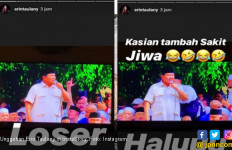 Ya Ampun, Istri Andre Taulany Sebut Pak Prabowo Halu dan Sinting - JPNN.com
