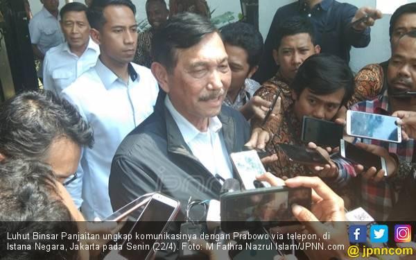 Cerita Luhut Panjaitan Telepon Prabowo Subianto, Oh Ternyata - JPNN.com