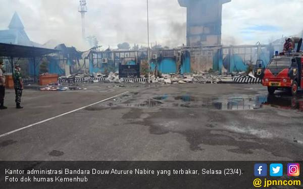 PascaKebakaran, Operasional Bandara Douw Aturure Nabire Gunakan Genset - JPNN.com