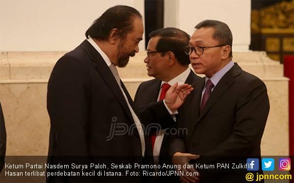 Zulkifli Hasan dan Surya Paloh Berdebat di Istana - JPNN.com