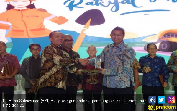 PT Bumi Suksesindo Banyuwangi Raih Penghargaan dari Kementerian LHK - JPNN.com