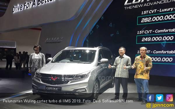 Melantai di IIMS 2019, Cek Harga Wuling Cortez CT dan Confero S ACT - JPNN.com
