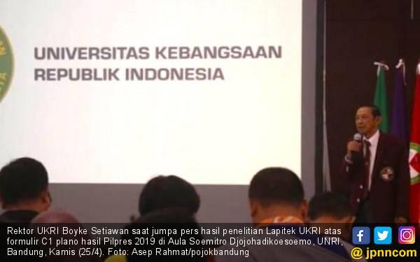 Konon Prabowo Ungguli Jokowi, Cuman Versi Lapitek UKRI - JPNN.com