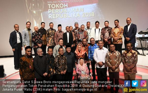 Tokoh Perubahan Republika 2018: Semoga Menginspirasi Pemuda dan Atlet Indonesia - JPNN.com