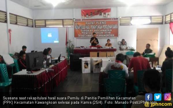 Rekapitulasi Suara Pemilu di Kawangkoan Selesai, Nih Hasilnya - JPNN.com