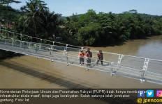 Jembatan Gantung Teknologi Judesa Buatan Pusjatan Pangkas Akses Warga - JPNN.com