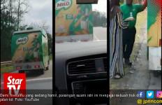 Viral, Video Perjuangan Mertua Kejar Truk demi Menantu Ngidam - JPNN.com