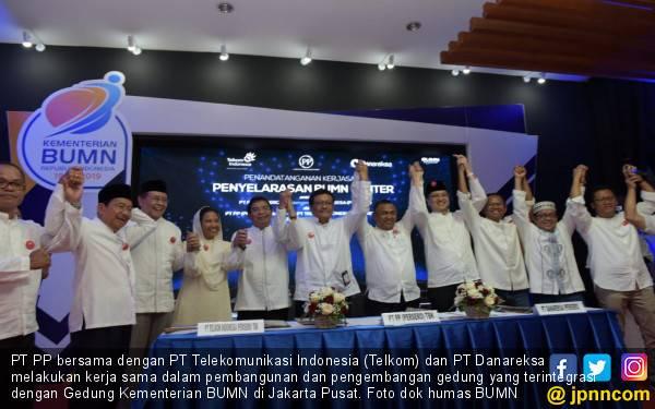 Bangun dan Kembangkan BUMN Center, PT PP - Telkom dan Danareksa Jalin Sinergi - JPNN.com