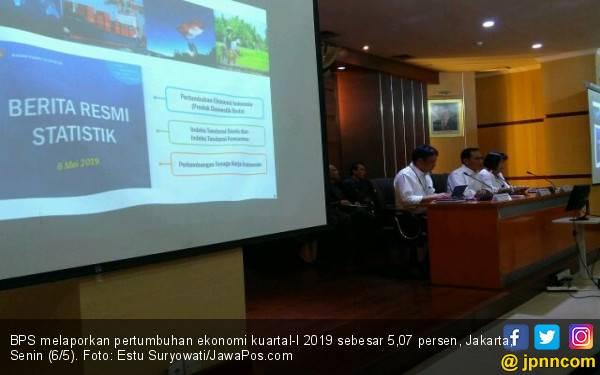 Pertumbuhan Ekonomi Kuartal-I 2019 Capai 5,07 Persen - JPNN.com