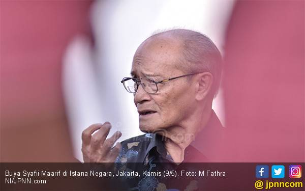 Buya Syafii Sampaikan Kriteria Calon Menteri ke Jokowi - JPNN.com