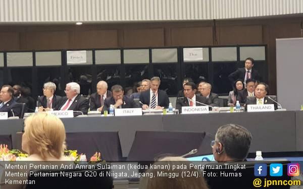Di Jepang, Mentan Amran Ajak Forum G20 Perhatikan Petani Kecil dan Generasi Muda - JPNN.com