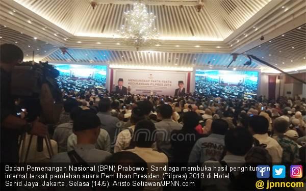 BPN Buka Data Internal, Prabowo Menang di Pilpres 2019, Silakan yang Mau Menantang - JPNN.com