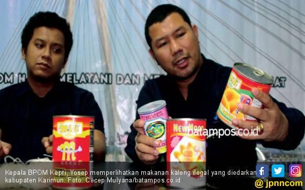 BPOM Sita Ratusan Makanan Kaleng Ilegal Bernilai Puluhan Juta - JPNN.com