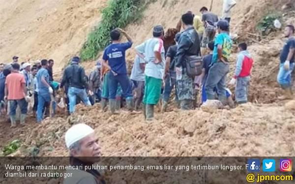 Puluhan Gurandil Tertimbun Longsor di Bogor, Ada yang Meninggal, tapi Sulit Dikenal - JPNN.com