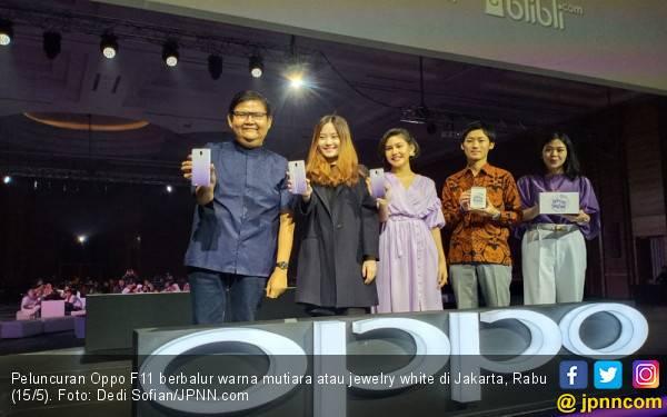 Momen Ramadan Oppo Merilis F11 Berbalur Warna Mutira, Harga Rp 4 Jutaan - JPNN.com