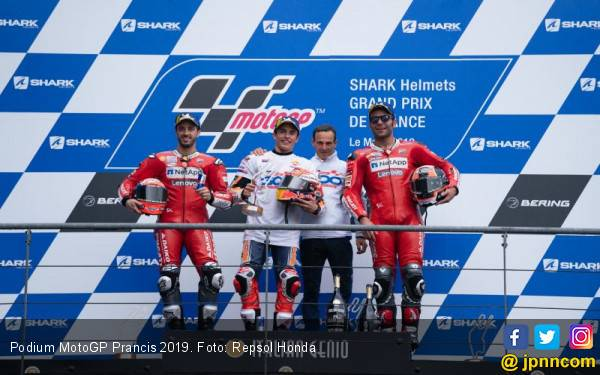 Klasemen MotoGP 2019: Marquez Kukuh di Puncak, Ducati Kian Merongrong - JPNN.com
