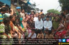 Jokowi Sampaikan Pidato Kemenangan di Kampung Deret - JPNN.com