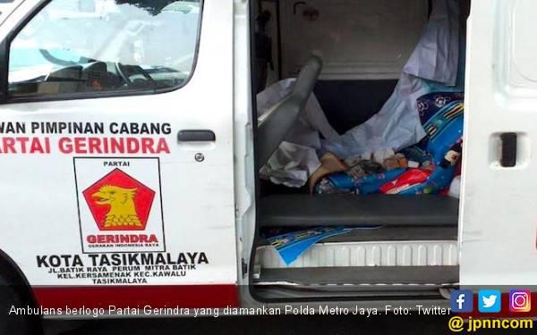 Kabar Terbaru soal Status Ambulans Gerindra yang Kedapatan Membawa Batu - JPNN.com