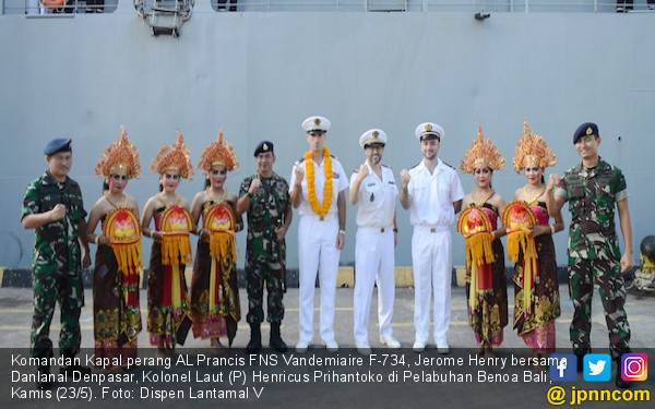 Kapal Perang AL Prancis Merapat di Pelabuhan Benoa Bali, Nih Misinya - JPNN.com