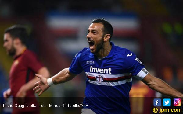 Jadi Top Scorer Liga Italia, Fabio Quagliarella Seperti Luca Toni - JPNN.com