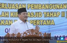 Pesan Eks Kasal Saat Peletakan Batu Pertama Pembangunan Pendopo Masjid Nurul Bahri - JPNN.com