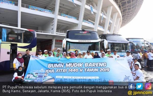 Mudik Bareng BUMN, Pupuk Indonesia Berangkatkan 5.500 Pemudik - JPNN.com