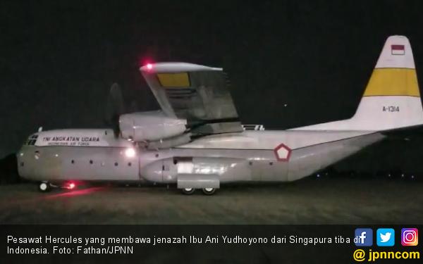 Alasan SBY Pilih Hercules untuk Bawa JenazahIbu Ani ke Indonesia - JPNN.com