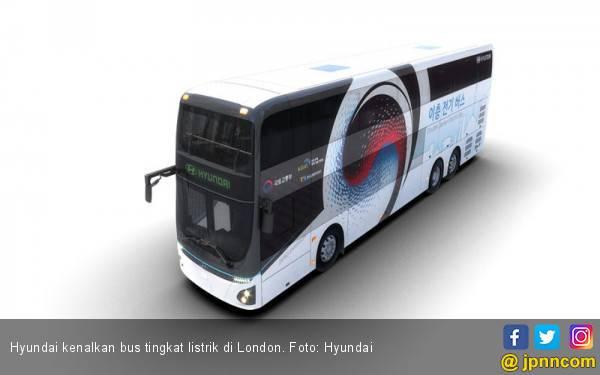 Hyundai Kenalkan Bus Tingkat Listrik Berkapasitas 81 Orang - JPNN.com
