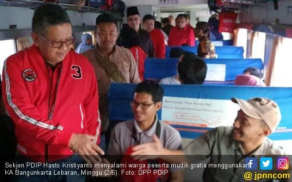Gelar Mudik Gratis Lagi, PDIP Fasilitasi 1.142 Pemudik Naik Kereta Api - JPNN.com