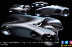Yi Dong Pamer Teaser Gambar Konsep Sepeda Motor Rasa Mobil - JPNN.com