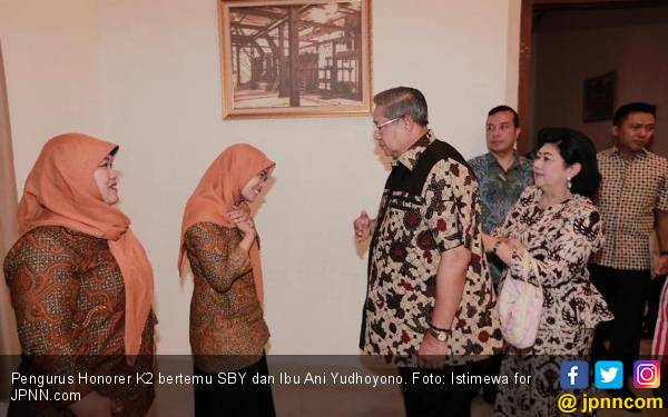 Kalimat Ibu Ani Yudhoyono yang Sulit Dilupakan Pengurus Honorer K2 - JPNN.com