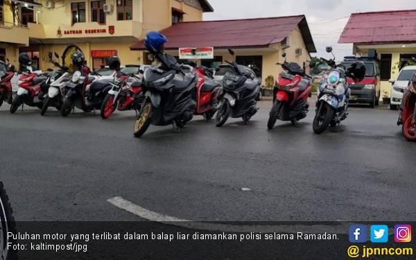 Razia Balap Liar, Puluhan Motor Diamankan Selama Ramadan - JPNN.com