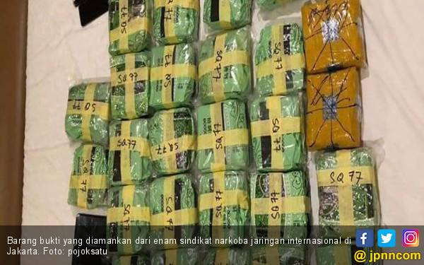 Polisi Amankan Enam Warga Malaysia Penyeludup 37 Kg Sabu ke Jakarta - JPNN.com