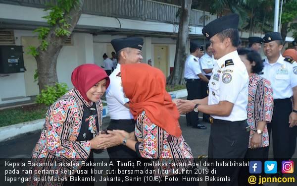 Hari Pertama Kerja, Bakamla Gelar Halalbihalal - JPNN.com
