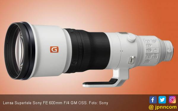 Harga Lensa Supertele Sony FE 600mm F/4 GM OSS Setara Toyota Avanza - JPNN.com